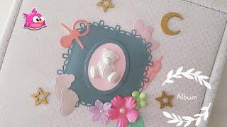 Álbum de fotos baby girl. Scrap. Love