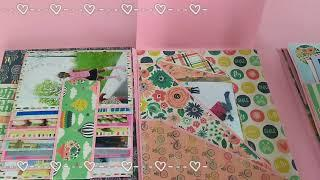 Trifold Scrapbook Album for birthday girl/ 10yr birthday scrapbook album