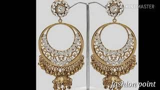 New stylish gold earrings ll New fancy earrings ll photo collection ll by Fashion point