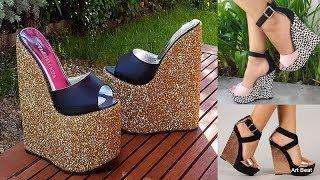 Latest Stylish High Heels Wedges For Women 2019 - Fashion Footwear