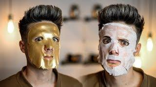 Testing The Weirdest Asian Face Masks From Amazon | BluMaan 2018