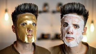 Testing The Weirdest Asian Face Masks From Amazon | BluMaan 2018