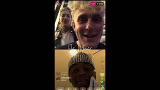 jake paul challenges soulja boy to fight on ig live in front of his girl and calls him a b*tch !!!