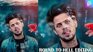 Round to Hell UnderWater PicsArt Photo Editing Tutorial - Instagram Viral Editing