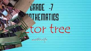 Factor tree for algebraic expression - students photo collection - maths class activity -