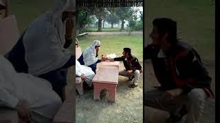 Boy purpose a girl in park
