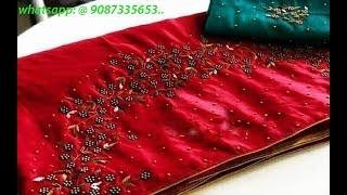 Designer Sana Silk Embroidery Sarees With Blouse || Fancy Silk Wedding Wear Saree/ Embroidery Saree