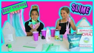 "BEST FRIENDS SLIME "" MAKING SLIME FOR OUR BEST FRIENDS "" SISTER FOREVER"""