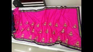Milano Yogi Dancing Embroidery Work Silk Sarees || party wear dress/Milano Yogi/latest designer