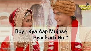 Cute Love Story Make u cry latest WhatsApp status romantic sad new #cutelovecreation