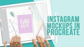 New Instagram Mockup Bundle for Lettering in Procreate at Holly Pixels Shoppe