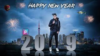 PicsArt Happy New Year 2019 Photo Editing tutorial in picsart Step by Step in Hindi - Taukeer Editz