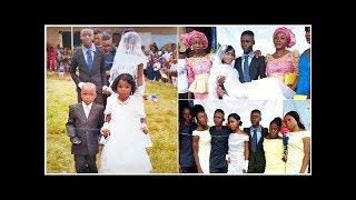 Alleged wedding photos of 19-year-old girl and boy in Ondo spark reactions online (photos)