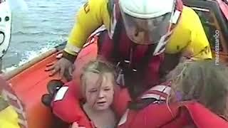 5yo girls rescued after being swept a mile away from the shore