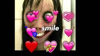 You so f' precious when you smile Momo