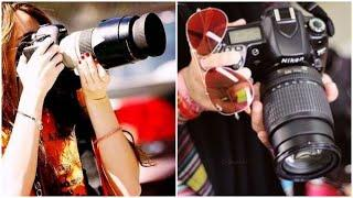 Girl with DSLR Poses | Cool Whatsapp dp image & Profile pictures
