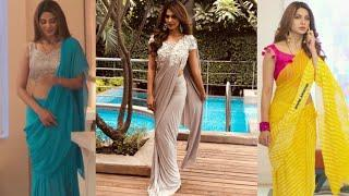 Jennifer winget aka Zoya saree collection in bepanah/stylish saree ideas inspired by Jennifer