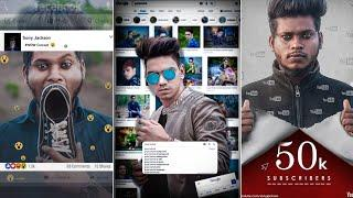 JB - Google Boy Gopal Pathak - Instagram Viral - Trending HD Photo Editing Tutorial in Picsart 2019