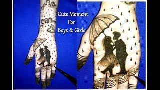 Cute Moment of Boy & Girl Mehndi Tattoo | mehndi tattoo for hand | mehndi designs