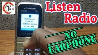 Listen Radio without Earphone || Radio fm trick | technical skill