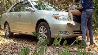 Pretty Mom Cleaning Beautiful Car In Morning Quite Place forest Why do on Car UTube Film