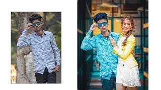 How to add girl in photo | Photo editing with girl | photoshop cc