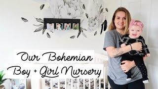 Beautiful Boy and Girl Bohemian Nursery Room Tour [2 under 2 Room Sharing]