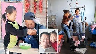 6 y.o Girl takes Care of Paralysed Father after her Mom Abandons them