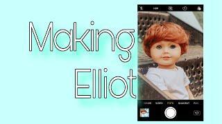 Making Elliot (Custom american girl boy doll)