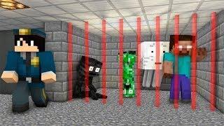 Monster's Prison : JailBreak Challenge - Monster School Minecraft Animation