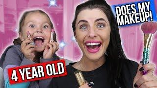 4-YEAR-OLD GIRL DOES MY MAKE UP! *Challenge*