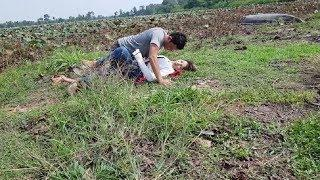 Sweetest A Boy & A Girl Outdoor In Beautiful Farm, A Boy Doing Alone Cos No More Time