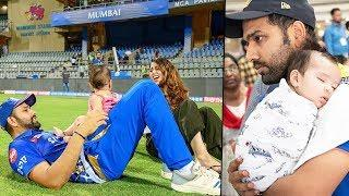 Rohit Sharma's Cute Photos With His Wife & Baby Girl Samaira At Cricket Ground