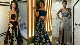designer Pretty Dresses collection of Hina kHan  | hina khan real life fashion funda