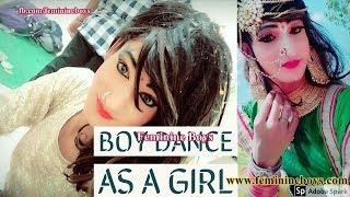 Boy Tranformed Into Girl For Dance 2 | Boy Wear Chaniya Choli | Saree | Feminine Boys Vlog