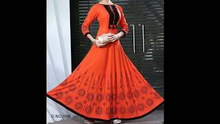 Stylish and beautiful gown dress picture collection | New kurti design mages / star fashion cloth