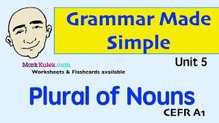 Plural of Nouns - Grammar Made Simple | English Speaking Practice | ESL