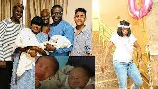 Funke Akindele Shows Off Her Twin Baby Boys, As She Shed Tears Of Joy