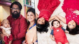 Rambha With Babies Daughters & Son Cute Photos