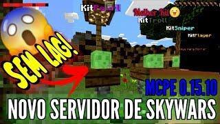 SAIU!!! NOVO SERVIDOR DE SKYWARS MCPE 0.15.10, SUPER LEVE E SEM LAG! ‹ NRCRAFT ›