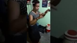 Very good dance by a boy cover a girl dress