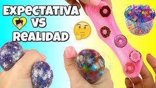 Haciendo Slime de Donuts y DIY Bolas Anti Stress  De Galaxia, Arcoiris con Orbeez