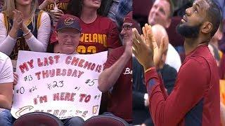 When LeBron James Saw The Message On A Boy's Sign, It Immediately Stopped The NBA Star In His Tracks