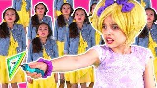 PRINCESS CLONES GO WRONG! ???? Esme Rescues Lilliana With Magic - Princesses In Real Life | Kiddyzuz