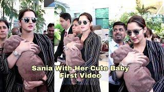 Sania Mirza's CUTE Baby Izhaan FIRST VIDEO   Mumbai Airport