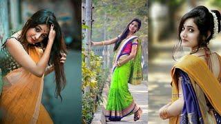 20 Cute styles Saree girls pose,