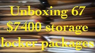 $7400 storage locker packages UNBOXING ???? 67 massive celebrity black & white photo collection