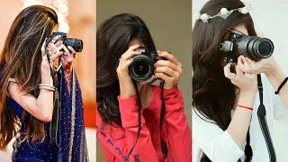 Girl with Camera Poses   Camera Pose for Girls   Best Girls Photography DP   HD