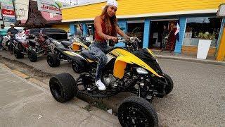 Chica Racing en Four Wheel - Accidente