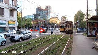 Close Call - Man gets almost hit by tram in Milan // Mann fast von Straßenbahn überfahren